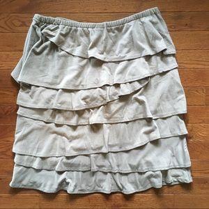 d8cbe5ff49 Merona Skirts | Knit Ruffle Skirt Size M Petite | Poshmark